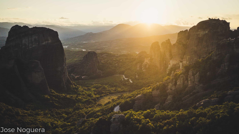 Viaje a Grecia: Atardecer en Meteora
