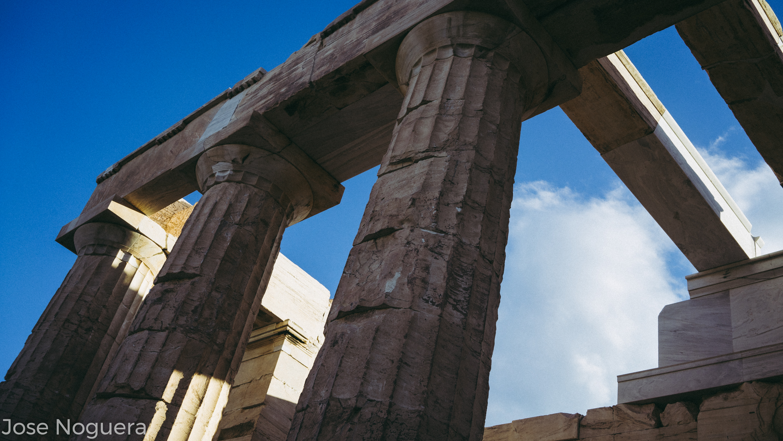 Viaje a Grecia: Propileos de la Acrópolis